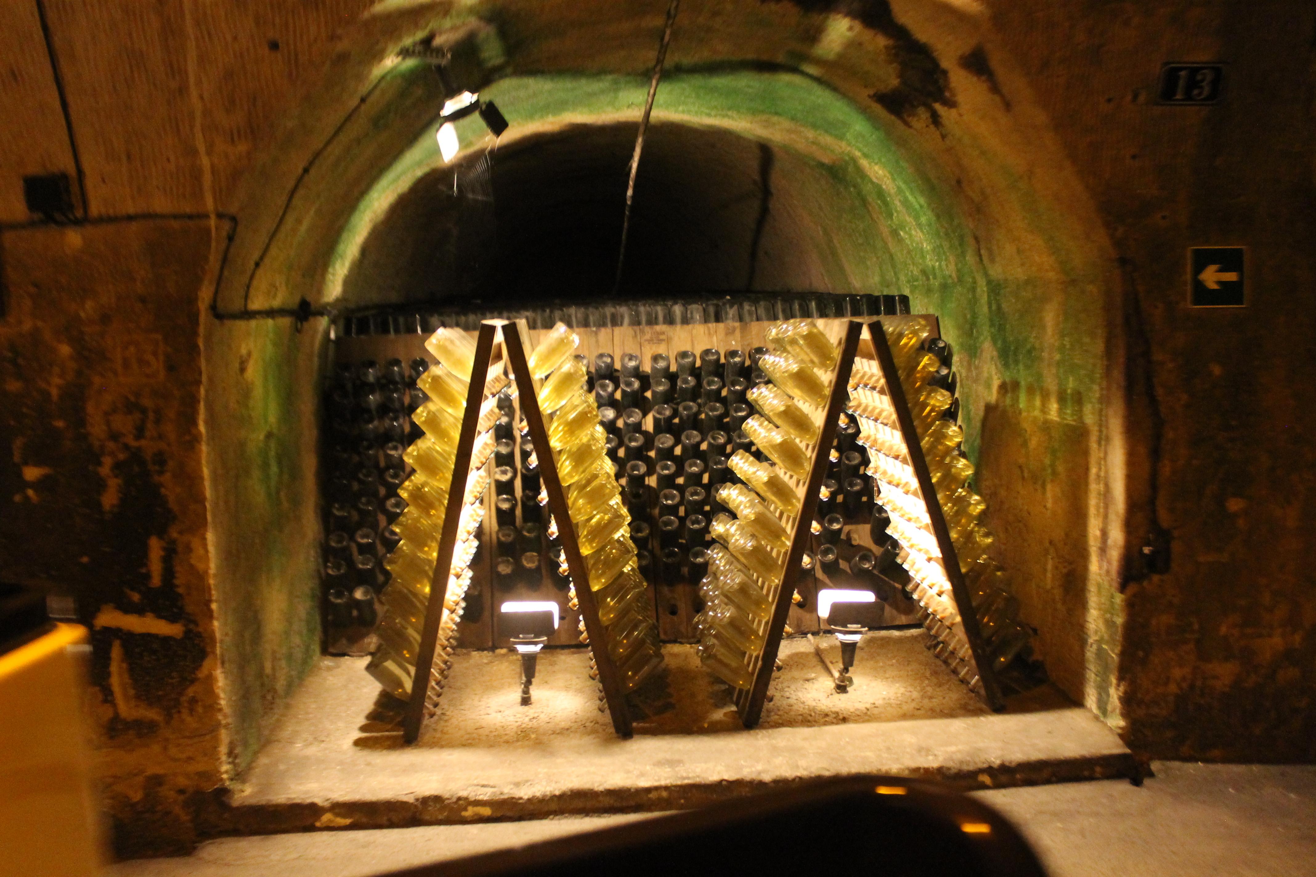 champagne tasting in epernay cellars
