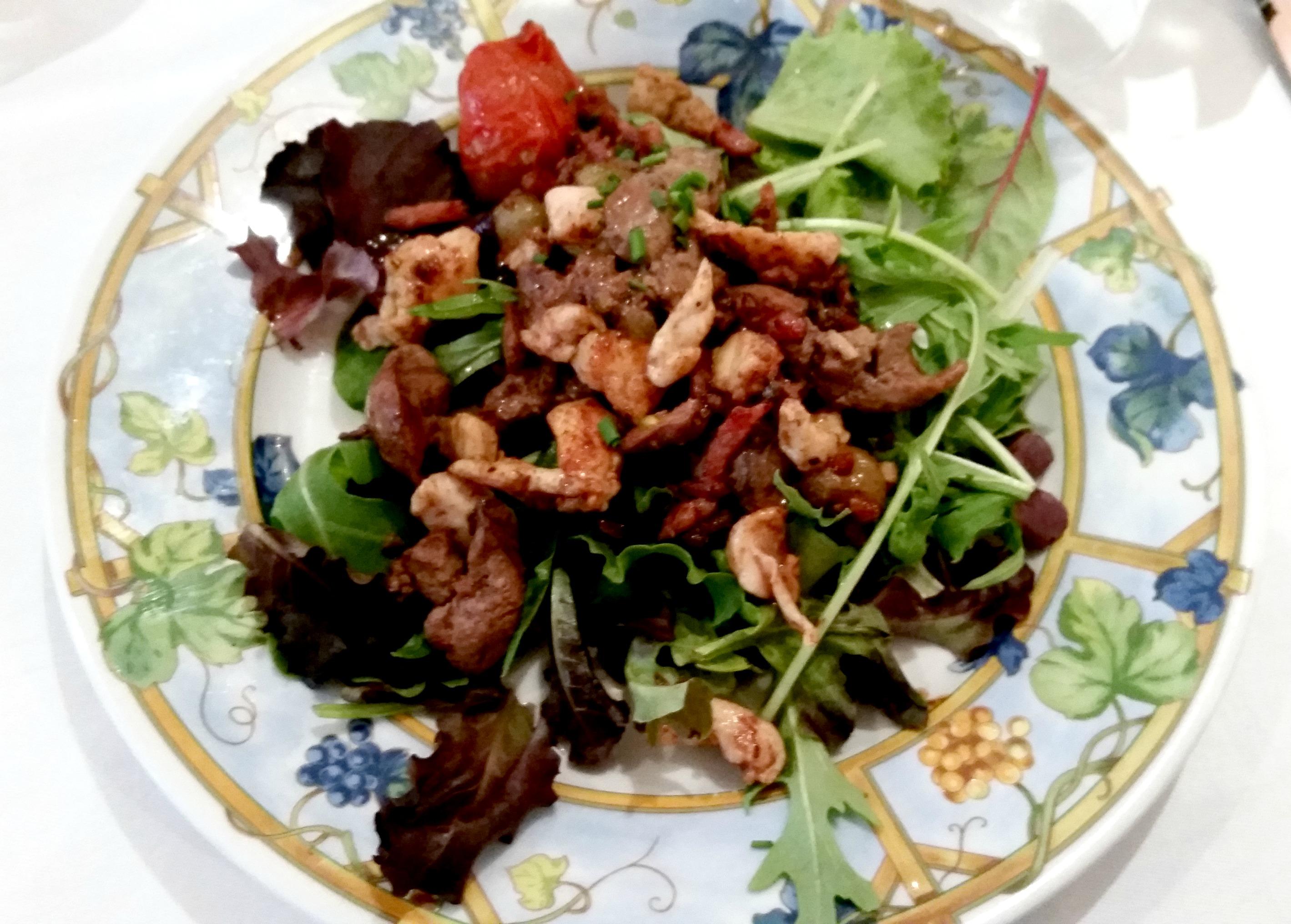 foie salad