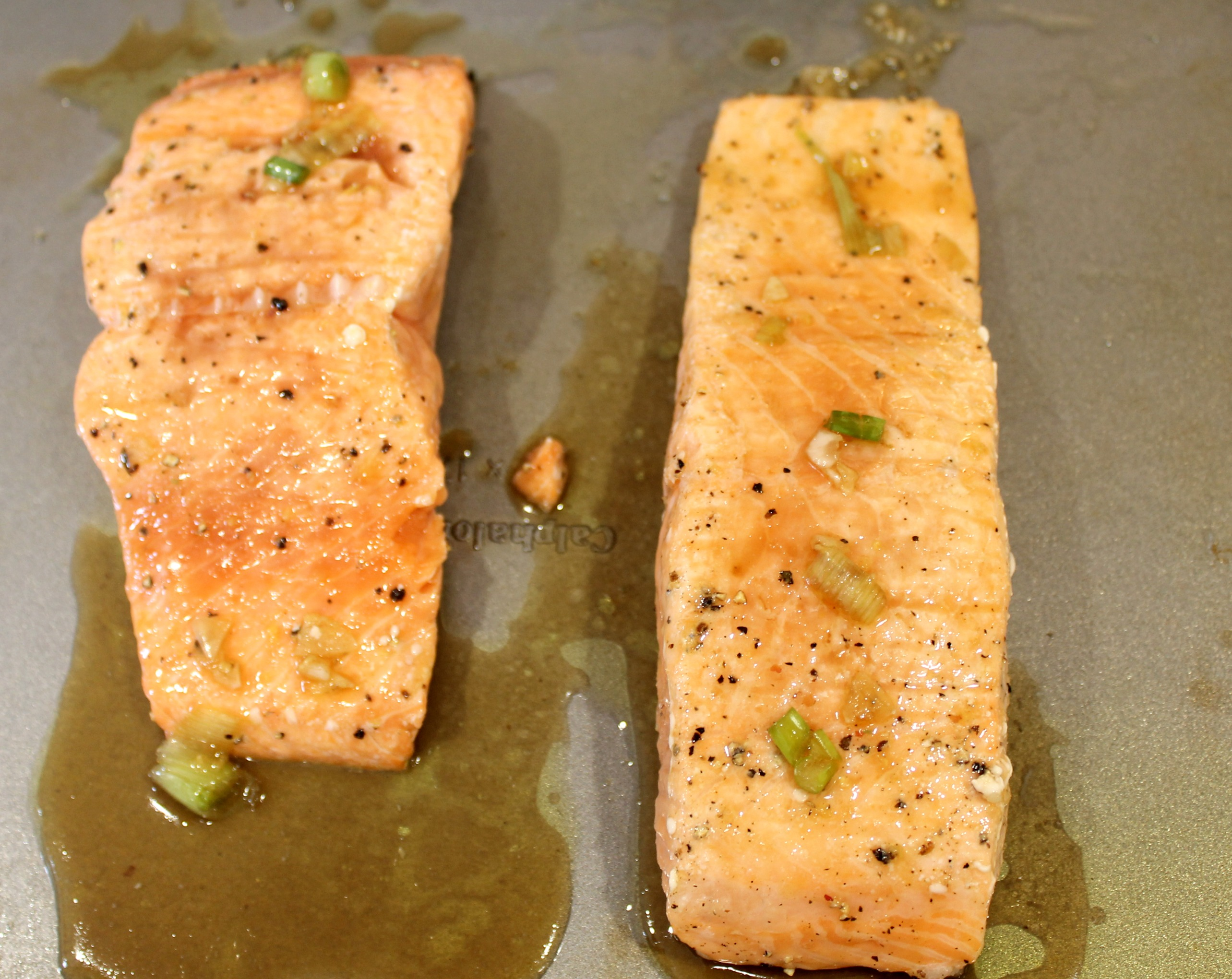 ginger glazed salmon filets